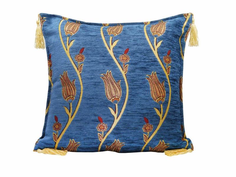 Turkish Cushion Cover Tulip Collection Light Blue
