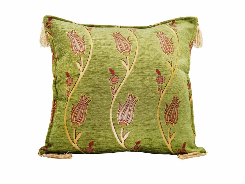 Turkish Cushion Cover Tulip Collection Light Green
