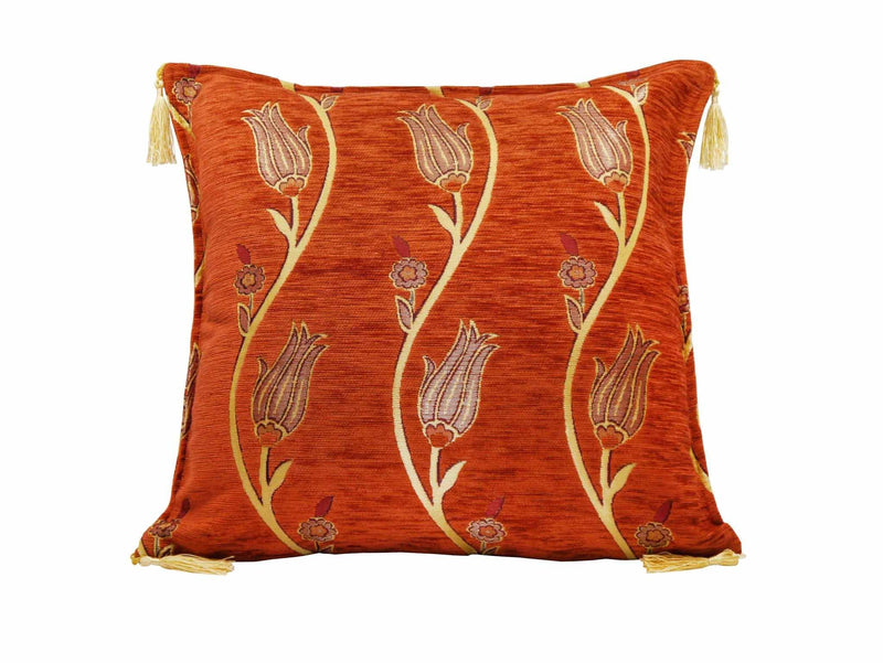 Turkish Cushion Cover Tulip Collection Rusty Orange