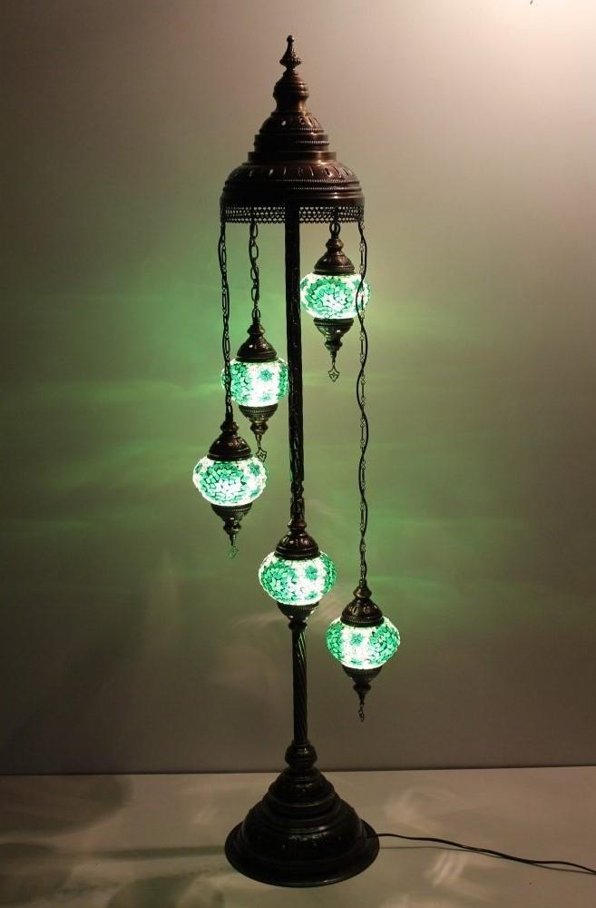 Turkish floor standing lamp green Australia