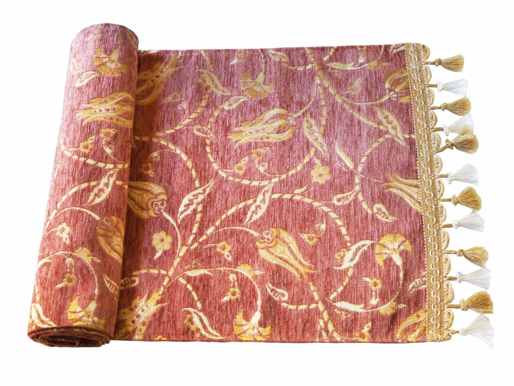 Turkish Table Runner Pastel Dusty Pink