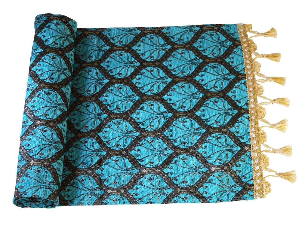 Turkish Table Runner Turquoise Colour