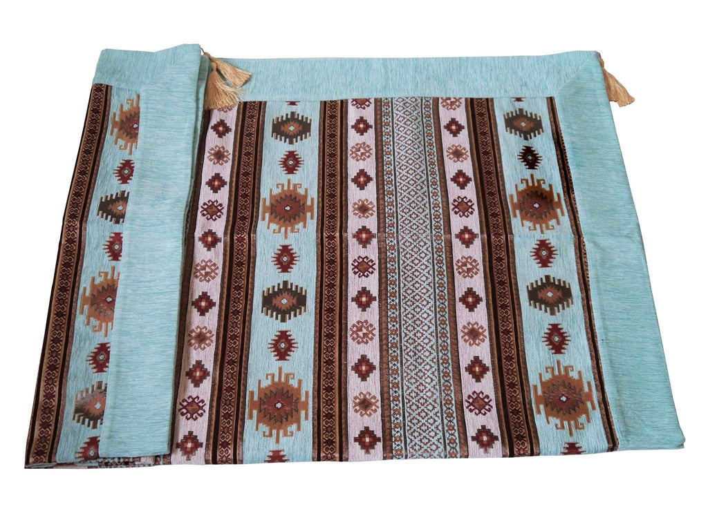 Turkish tablecloth aztec aqua