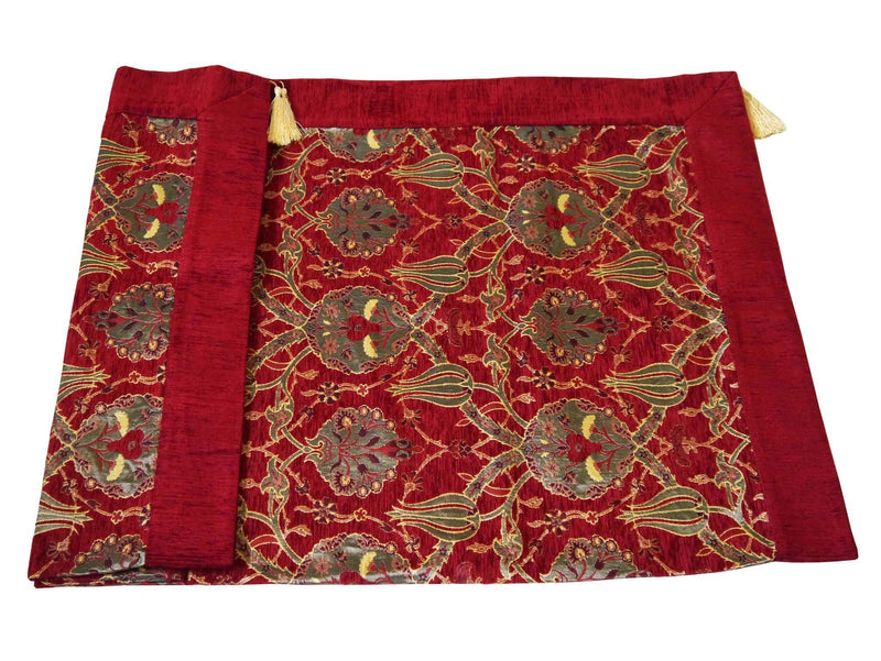 Turkish tablecloth flower pattern red