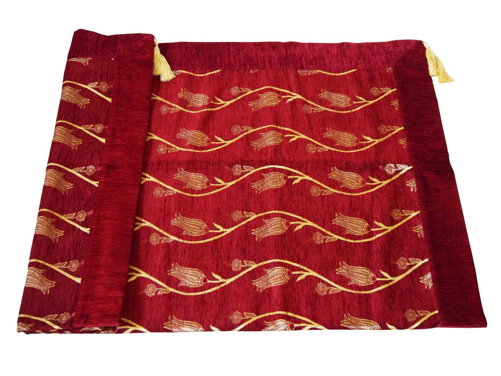 Turkish tablecloth Australia red tulip