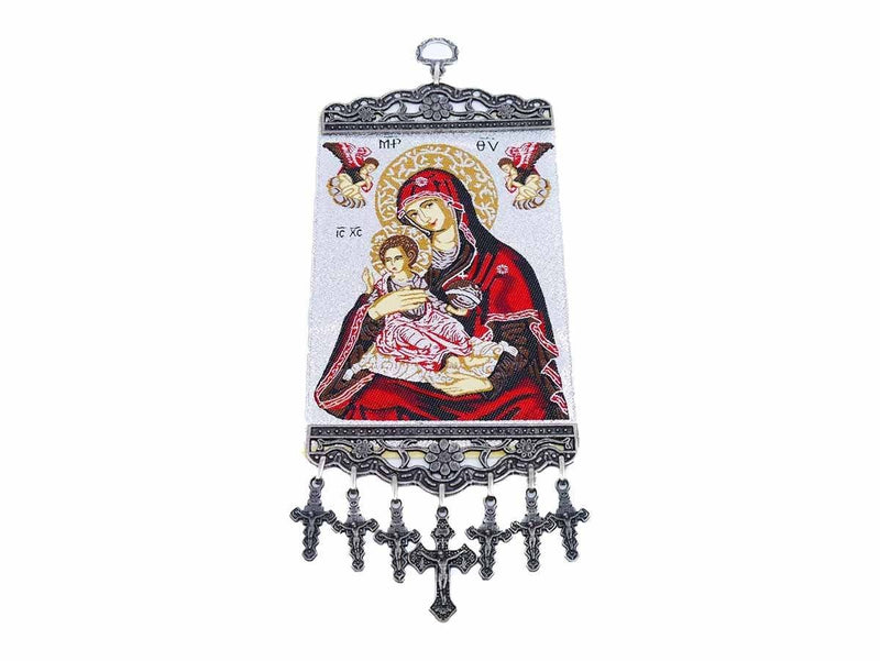 Christian tapestry Virgin Mary and Child