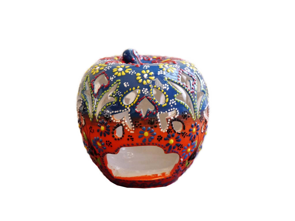 Candle Holder Dantel Apple Blue Orange