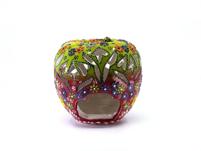Candle Holder Dantel Collection Apple Green Red
