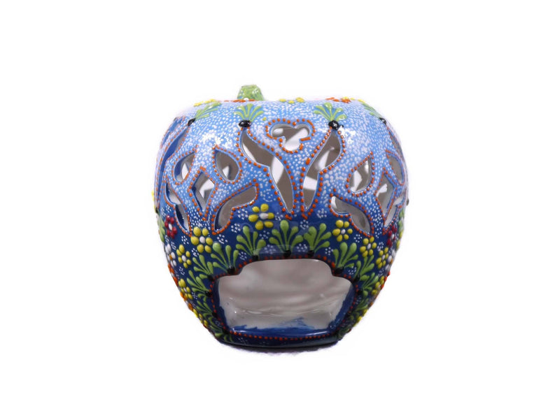 Candle Holder Dantel Apple Light Blue