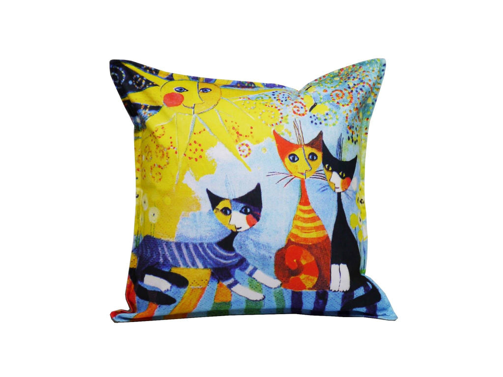 Cat Cushion Cover Design 11 Textile Sydney Grand Bazaar
