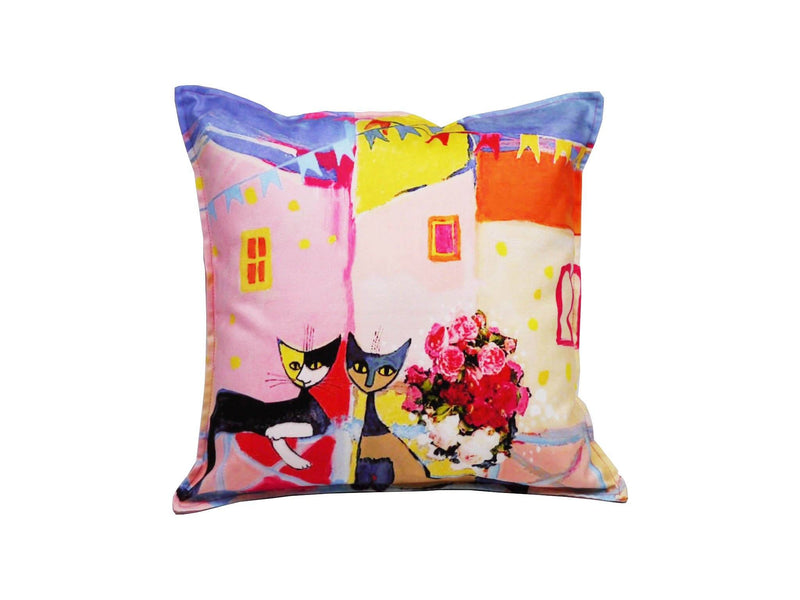 Cat Cushion Cover Design 12 Textile Sydney Grand Bazaar