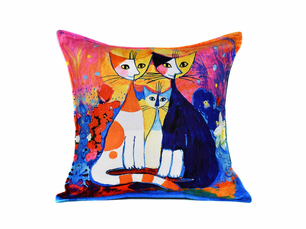 Cat Cushion Cover Design 13 Textile Sydney Grand Bazaar