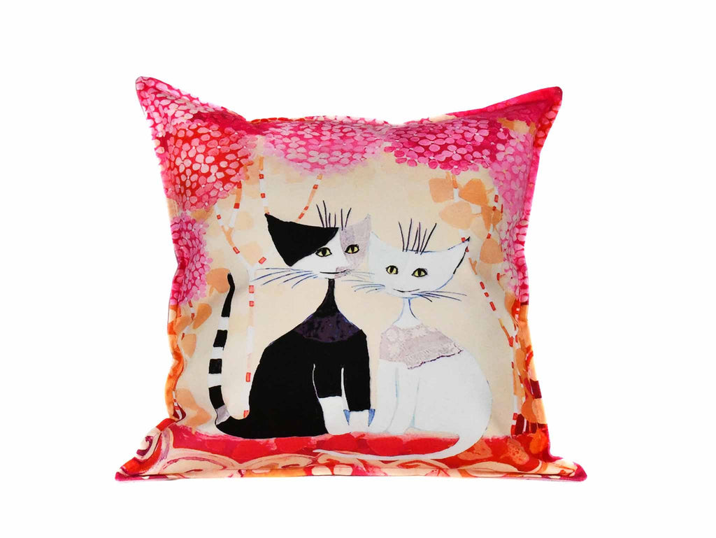 Cat Cushion Cover Design 18 Textile Sydney Grand Bazaar