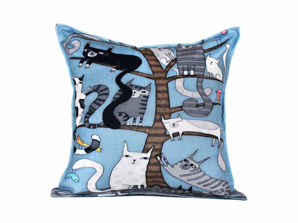Cat Cushion Cover Design 2 Textile Sydney Grand Bazaar
