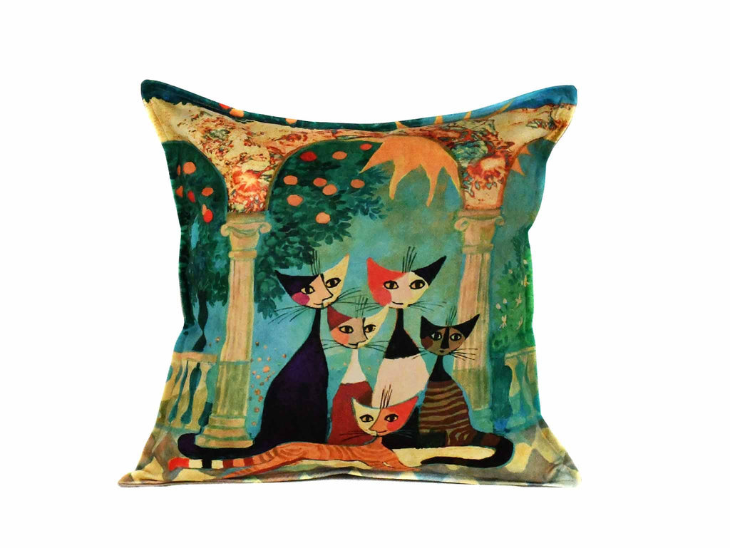 Cat Cushion Cover Design 21 Textile Sydney Grand Bazaar