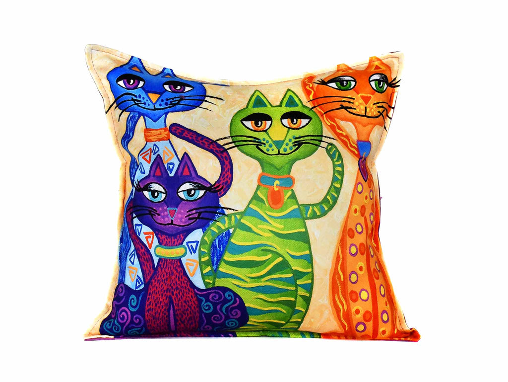 Cat Cushion Cover Design 22 Textile Sydney Grand Bazaar
