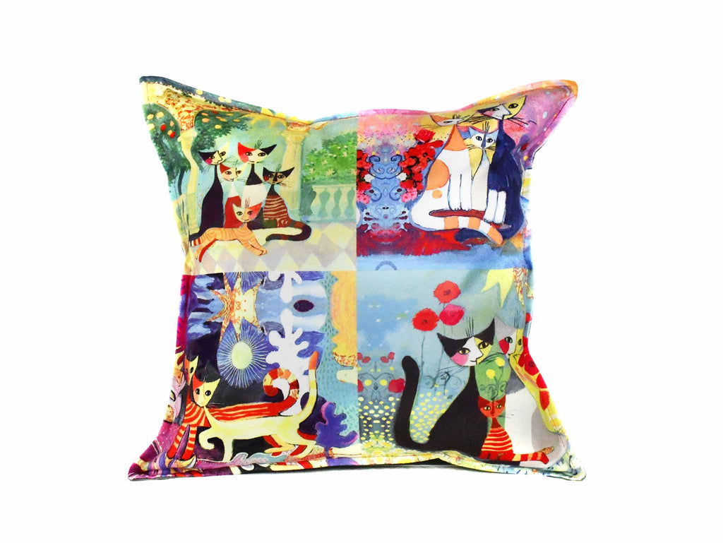 Cat Cushion Cover Design 26 Textile Sydney Grand Bazaar