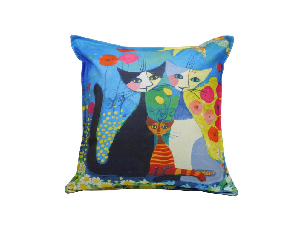 Cat Cushion Cover Design 4 Textile Sydney Grand Bazaar