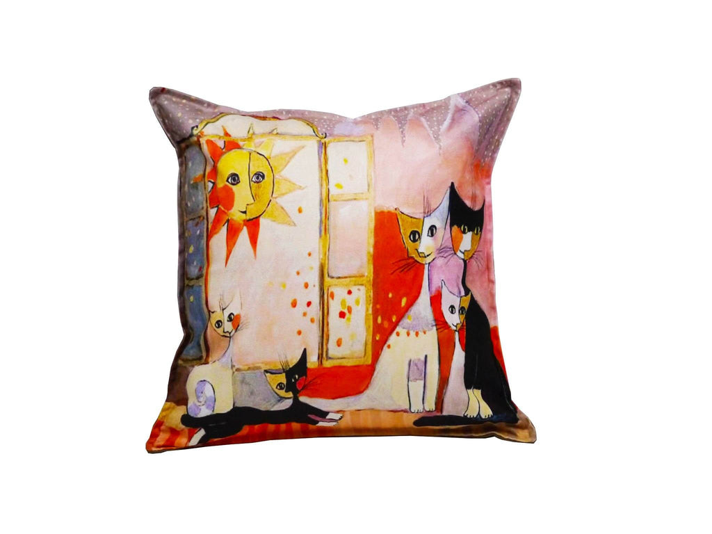 Cat Cushion Cover Design 7 Textile Sydney Grand Bazaar