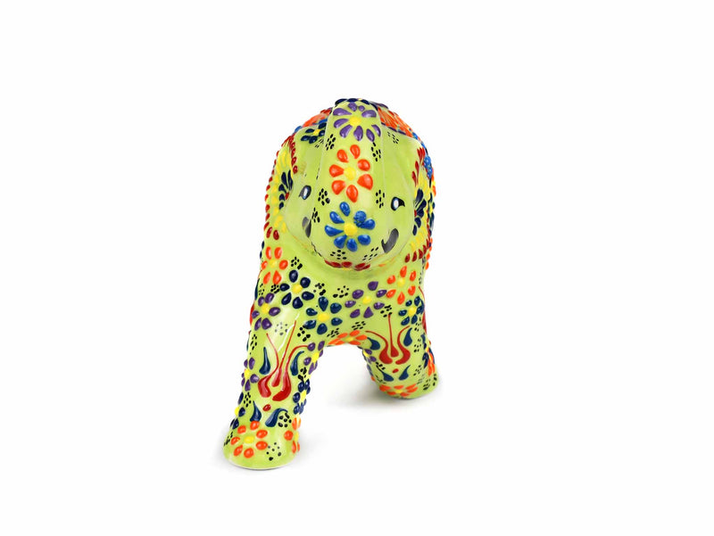 Ceramic Decorative Elephant Medium Light Green Design 1 Ceramic Sydney Grand Bazaar