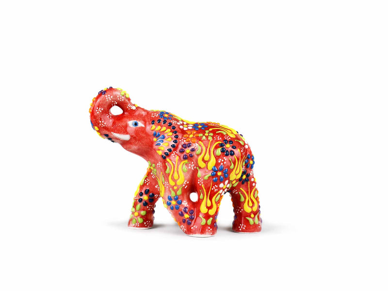Ceramic Decorative Elephant Small Red Ceramic Sydney Grand Bazaar