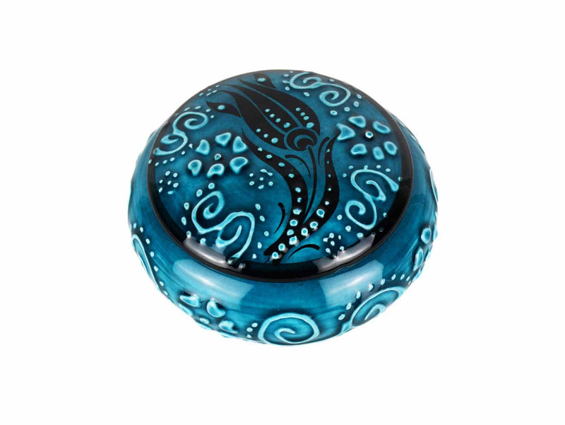 Ceramic Jewelry Box Firuze Turquoise Green Ceramic Sydney Grand Bazaar