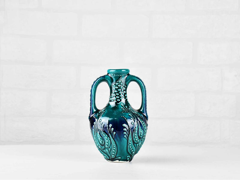 Ceramic Vase 2 Handle Firuze Turquoise Green Ceramic Sydney Grand Bazaar