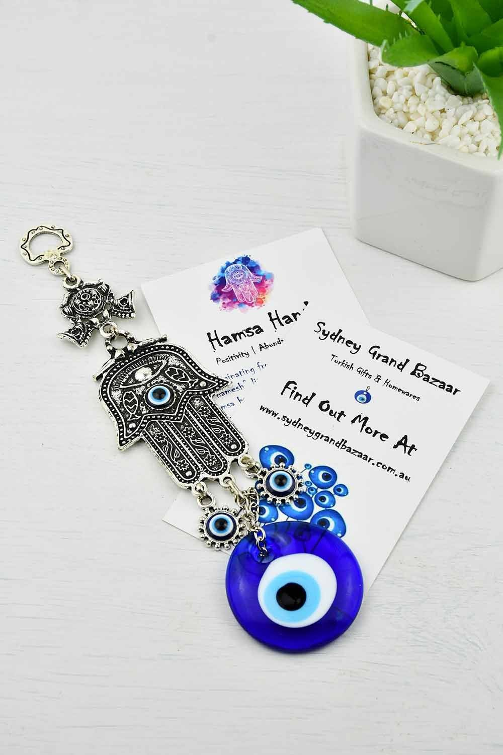 Evil Eye and Hamsa Hand Ornament Medium Evil Eye Sydney Grand Bazaar