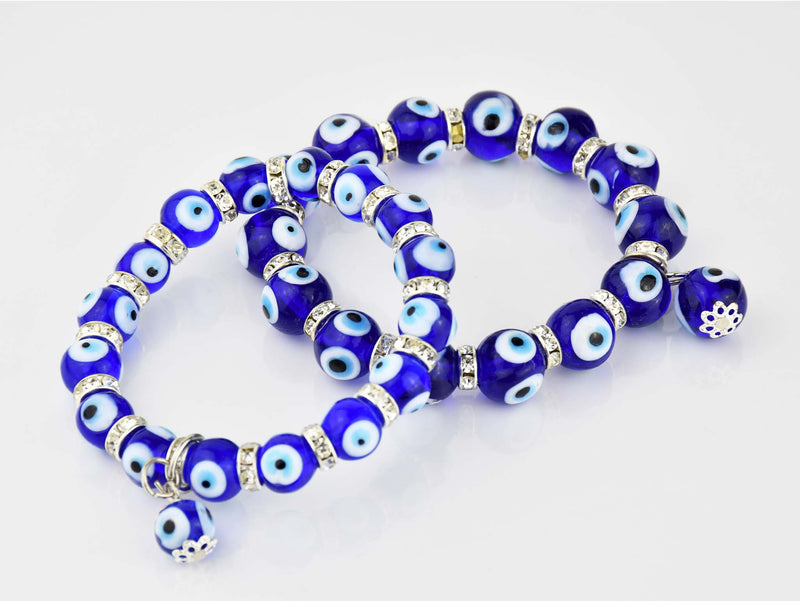 Evil Eye Bracelet #15137 8mm Evil Eye Sydney Grand Bazaar