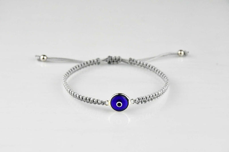 Evil Eye Plain Black Bracelet Beads
