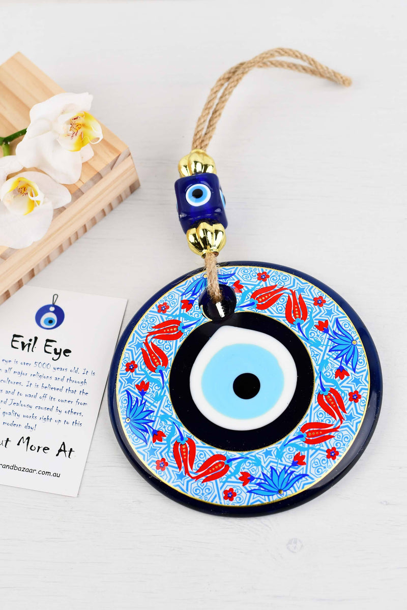 Evil Eye Ornament Butterfly Filigree Rope Small
