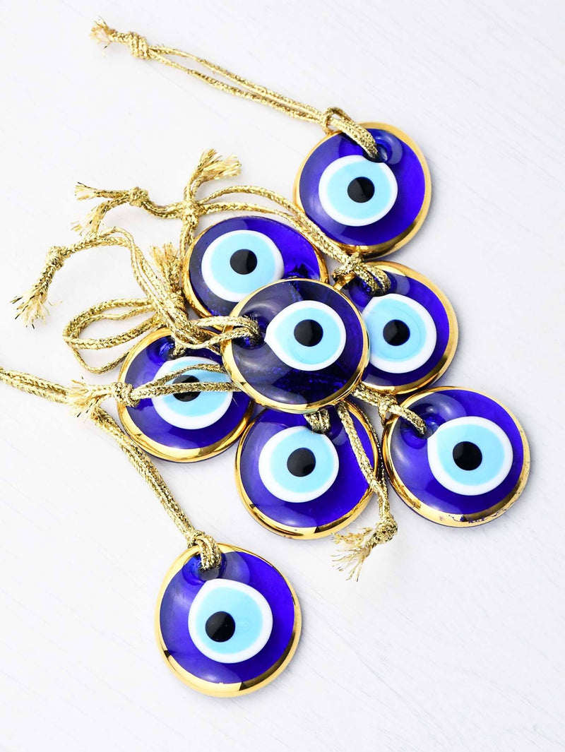 Evil Eye Glass Round Frame Large Design 3
