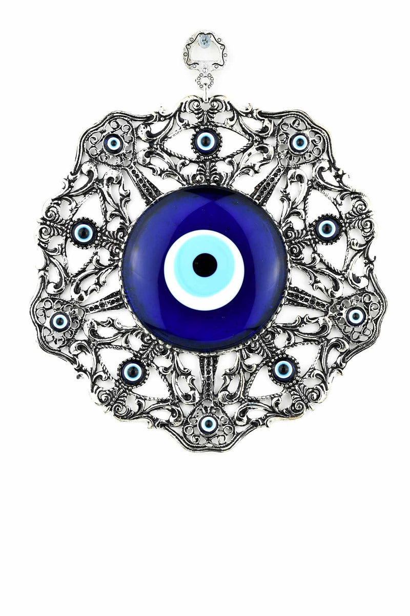 Evil Eye Glass Round Frame Large Design 3 Evil Eye Sydney Grand Bazaar