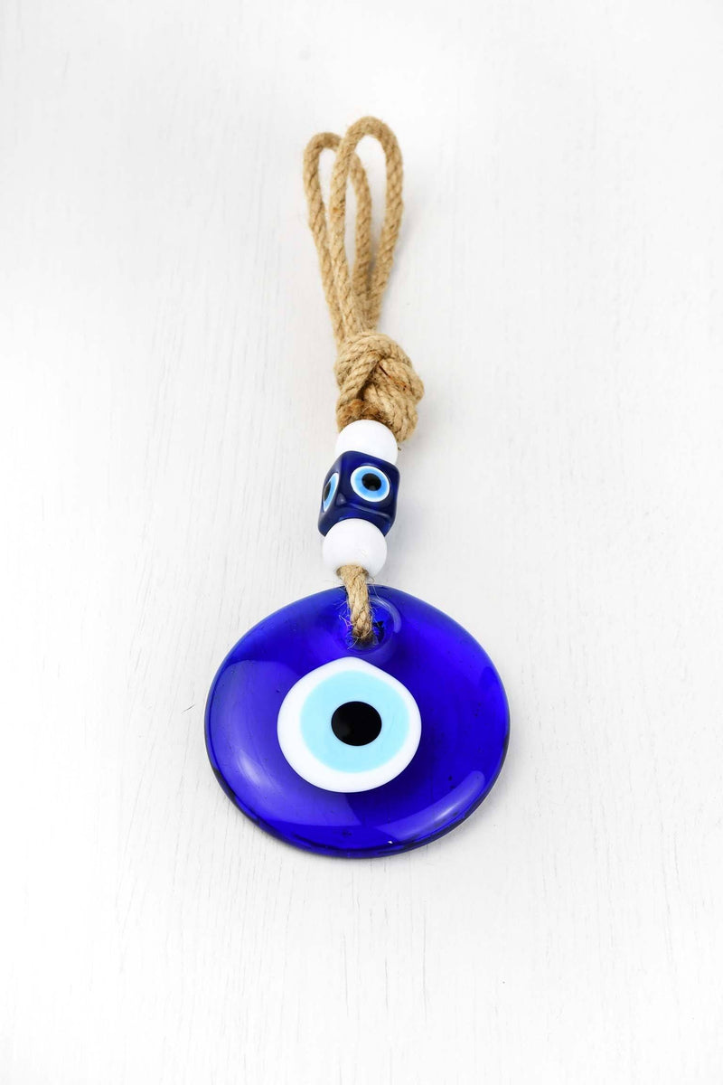Evil Eye Glass White Beads Wall Hanging Evil Eye Sydney Grand Bazaar