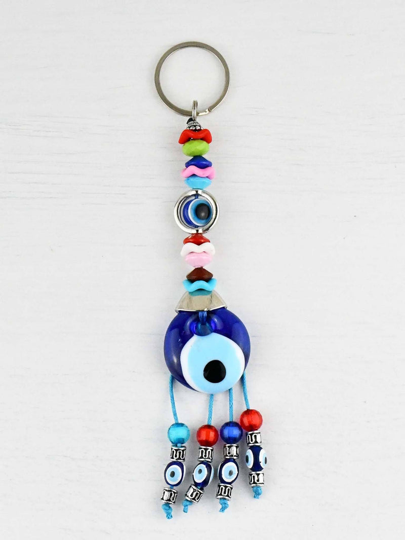 Evil Eye Keyring Eye Bead Colourful