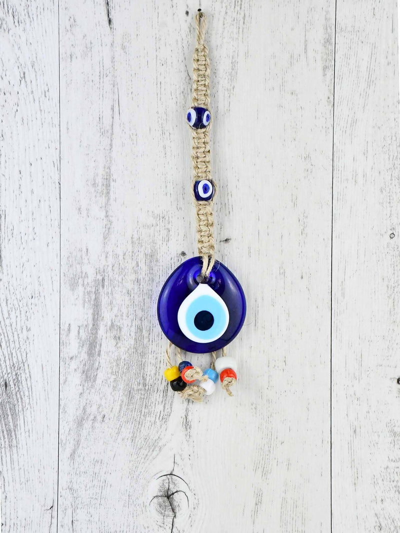 Evil Eye Ornament Beads Rope Tied
