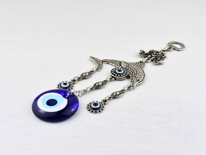 Evil Eye Ornament Dolphin Small