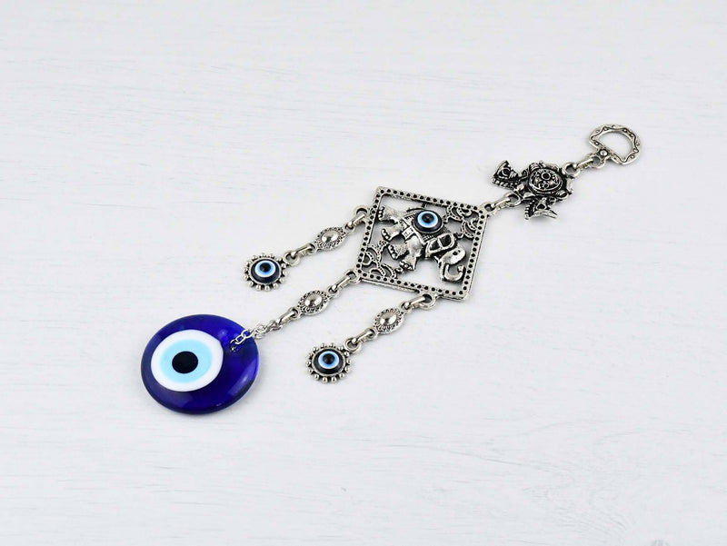 Evil Eye Ornament Elephant Square Small