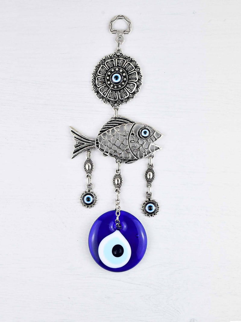 Evil Eye Wall Ornament Fish Filigree