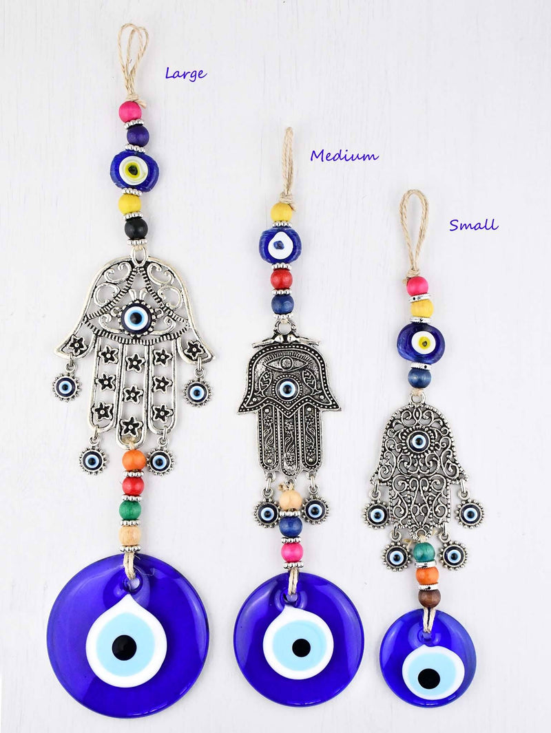 Evil Eye Ornament Hamsa Hand Sizes