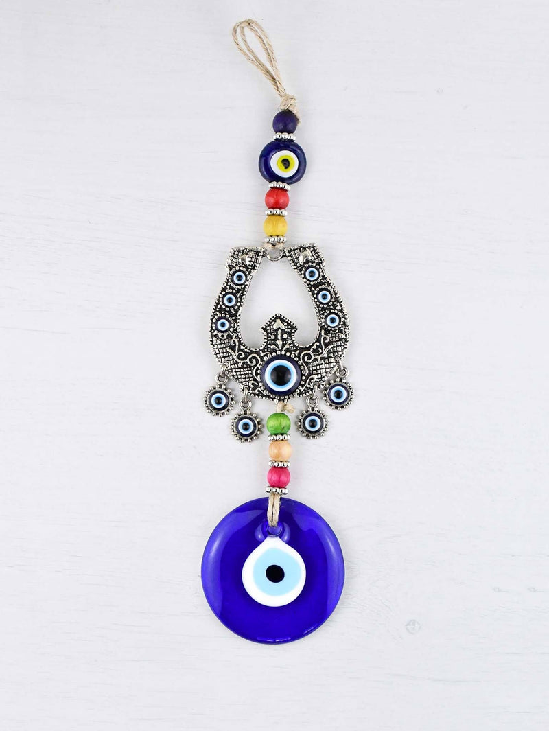 Handmade Evil Eye Ornament Horseshoe