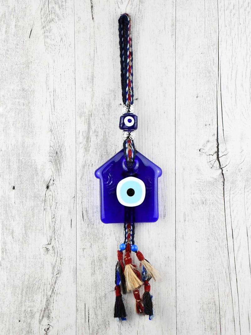 Evil Eye Ornament Blue House Glass