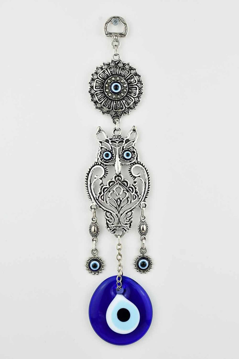 Evil Eye Ornament Owl Design Medium #1 Evil Eye Sydney Grand Bazaar