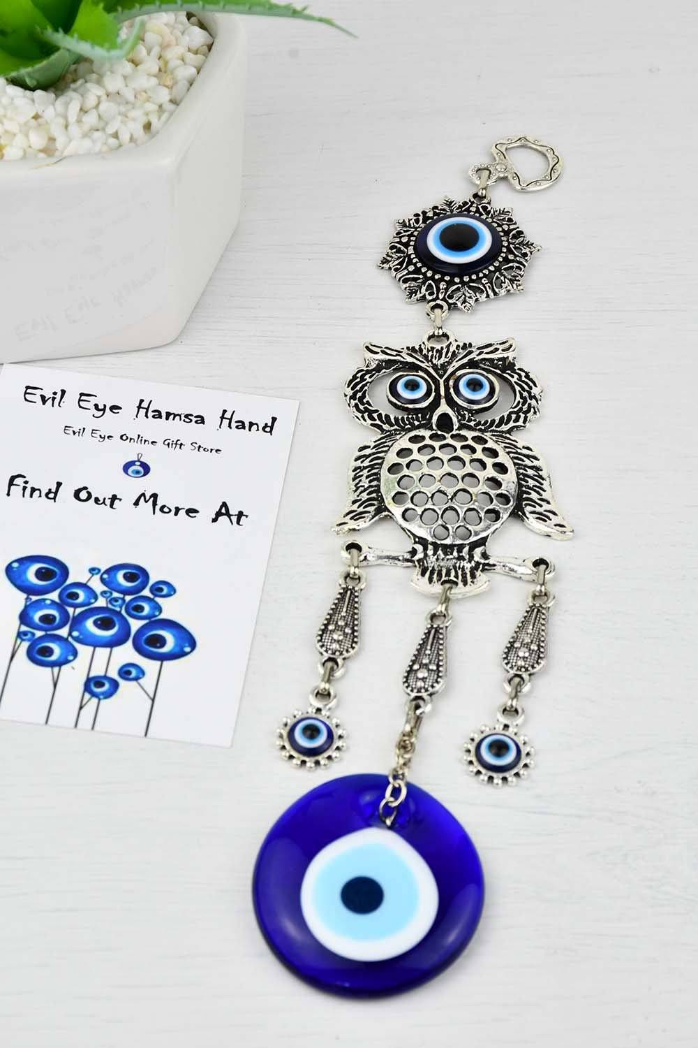 Evil Eye Ornament Owl Design Turkish Greek Mati eye