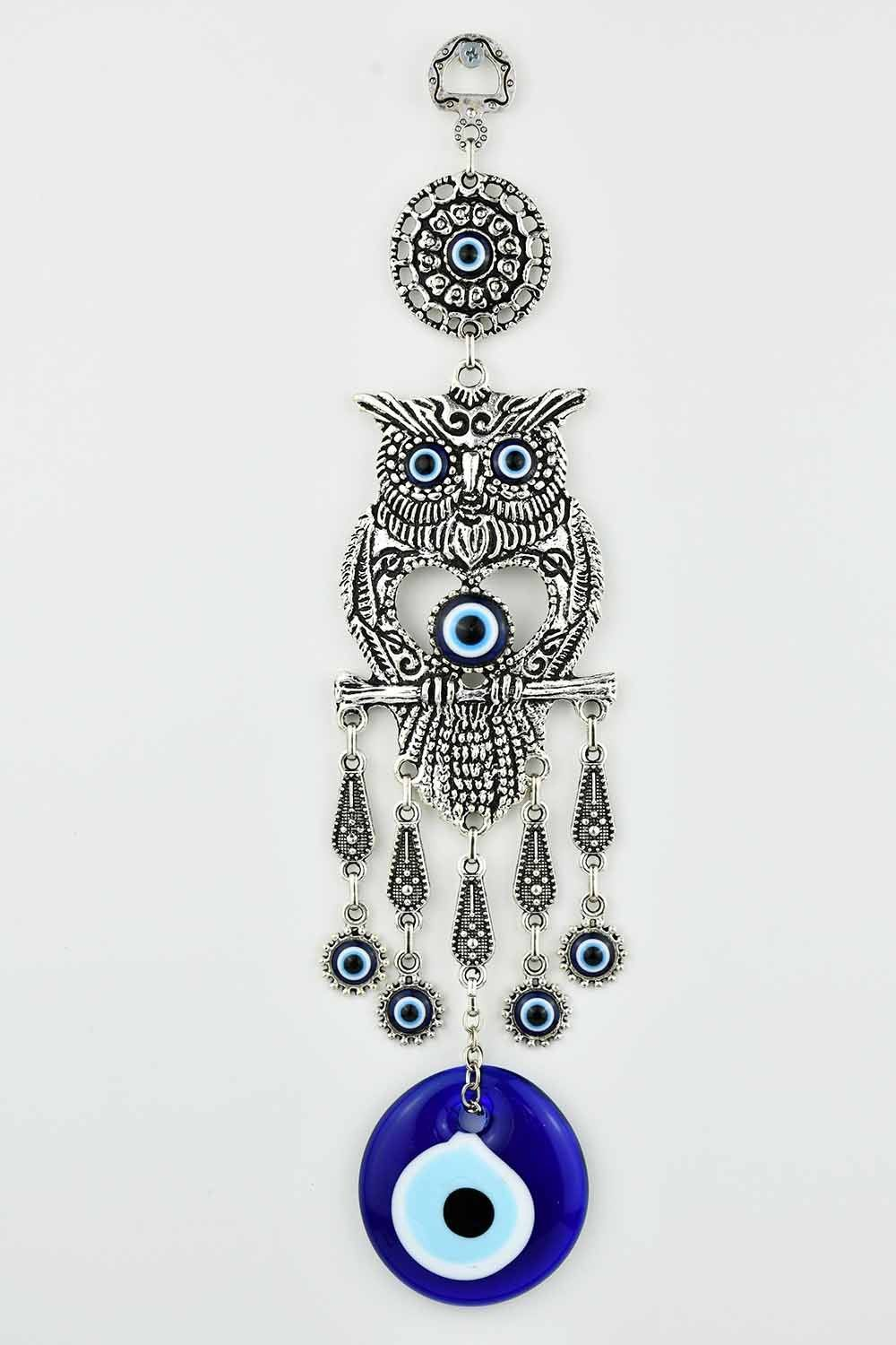 Evil Eye Ornament Owl Design Medium #3 Evil Eye Sydney Grand Bazaar