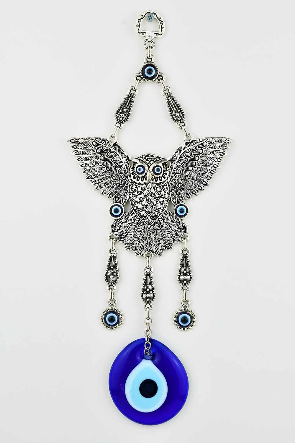 Evil Eye Ornament Owl Design Medium #4 Evil Eye Sydney Grand Bazaar