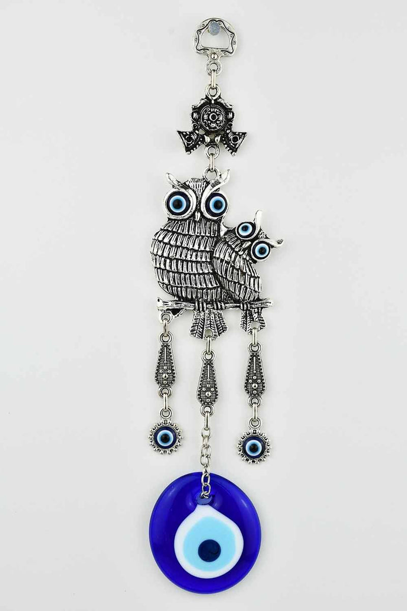 Evil Eye Ornament Owl Design Medium #5 Evil Eye Sydney Grand Bazaar
