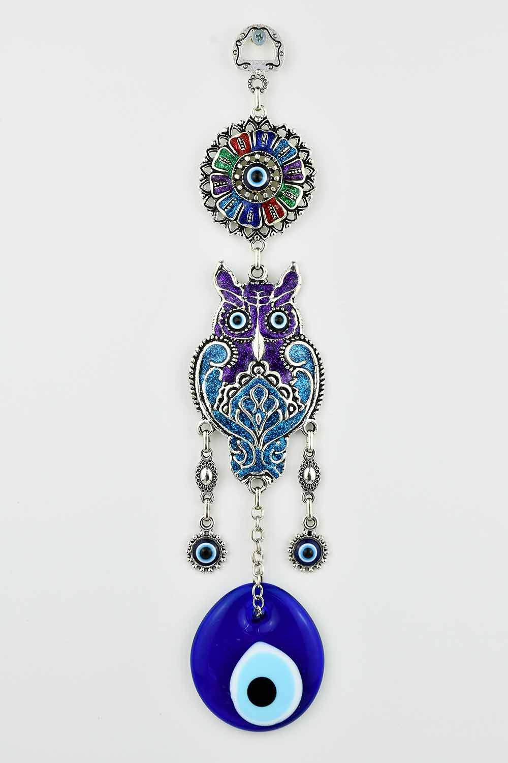 Evil Eye Ornament Owl Design Medium #6 Evil Eye Sydney Grand Bazaar