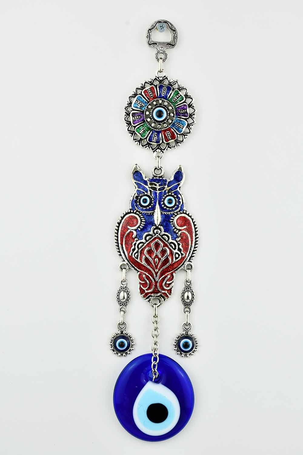 Evil Eye Ornament Owl Design Medium #8 Evil Eye Sydney Grand Bazaar