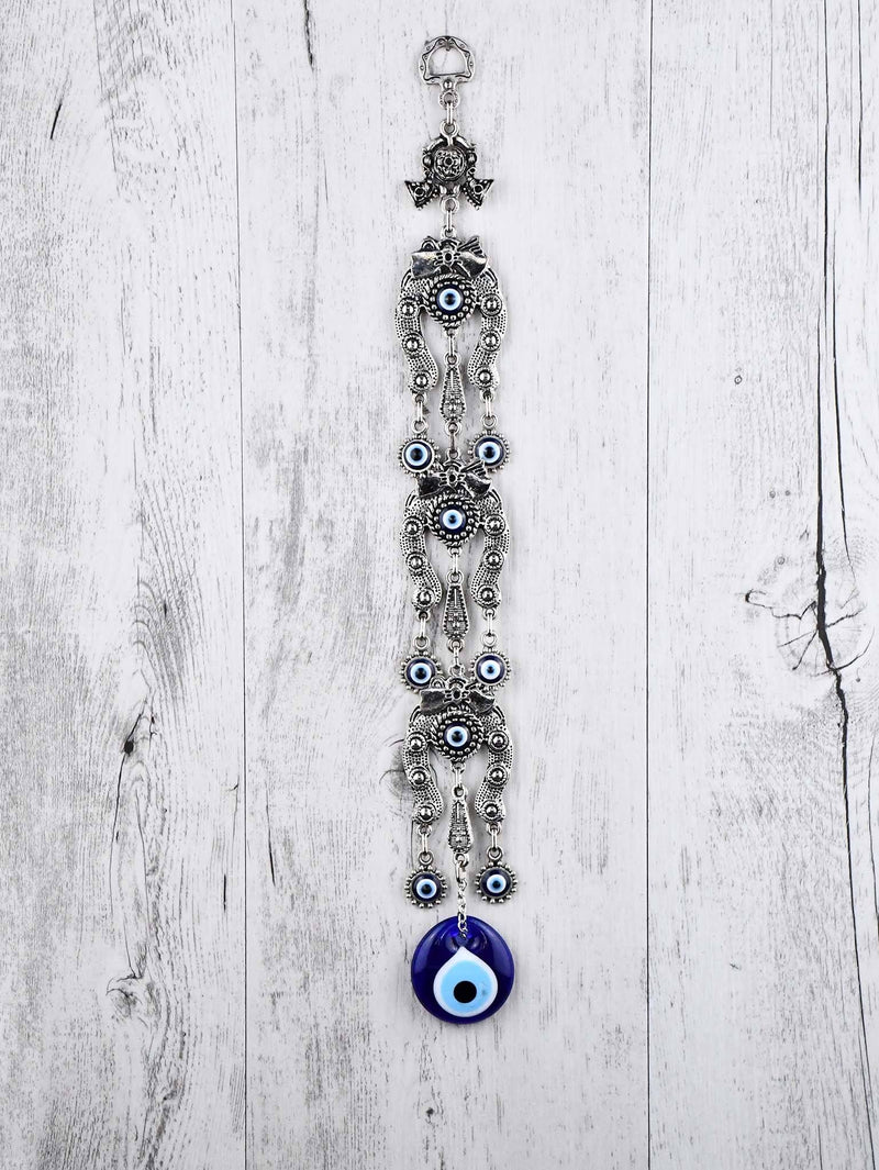 Evil Eye Ornament Triple Horseshoe Down